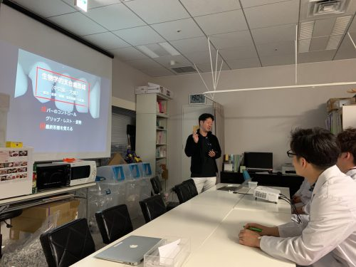 大阪歯科大学の学生に向けて講義をしました