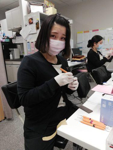 歯科衛生士実習の様子